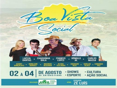 Boa Vista Social realiza segunda edição de 2 a 4 de agosto