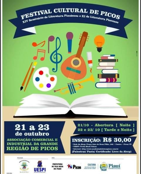 Alerp divulga a programação do Festival Cultural Picoense