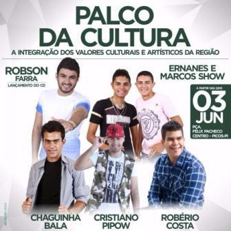 Robson Farra lança CD no Palco da Cultura
