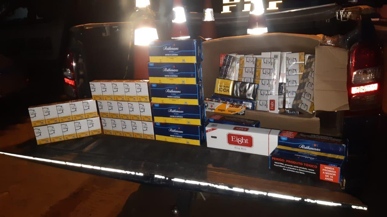 Carga de cigarros contrabandeados é apreendida na BR 316, em Picos