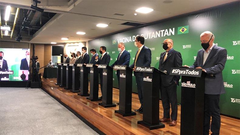 Governador oficializa a compra direta de 500 mil doses de Coronavac com o Butantan