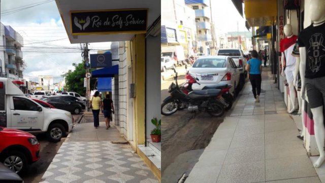Secretário Marcos Buriti organiza espaços públicos para trânsito de pedestres no Centro de Picos
