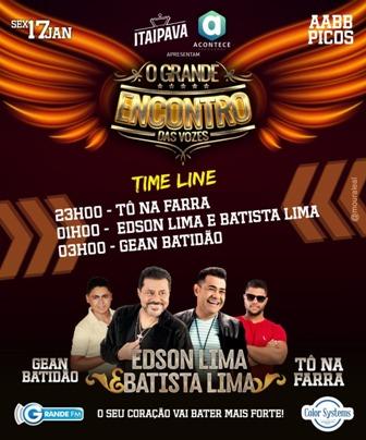 É HOJE! O Grande Encontro das vozes de Edson Lima e Batista Lima na AABB de Picos
