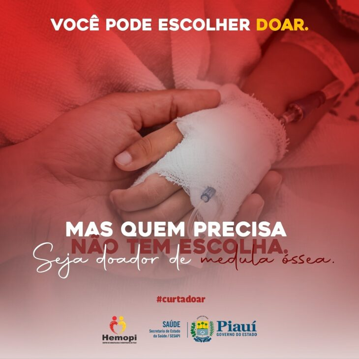 Hemopi promove campanha para aumentar cadastros de doadores de medula óssea
