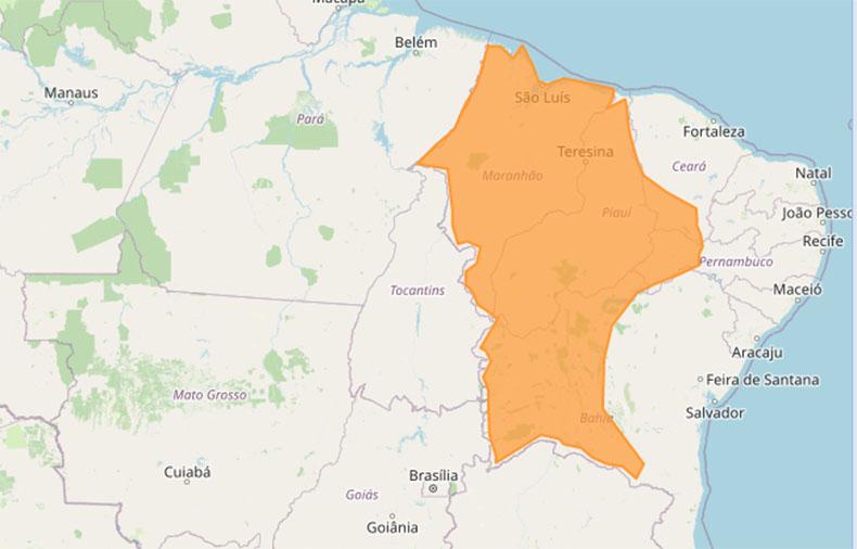 Piauí tem alerta de chuvas intensas; Três cidades registram maiores acumulados no país