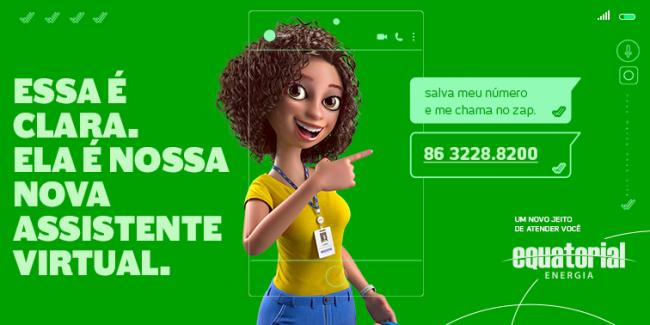 Clara, assistente virtual da Equatorial Piauí, já realizou mais de 600 mil atendimentos
