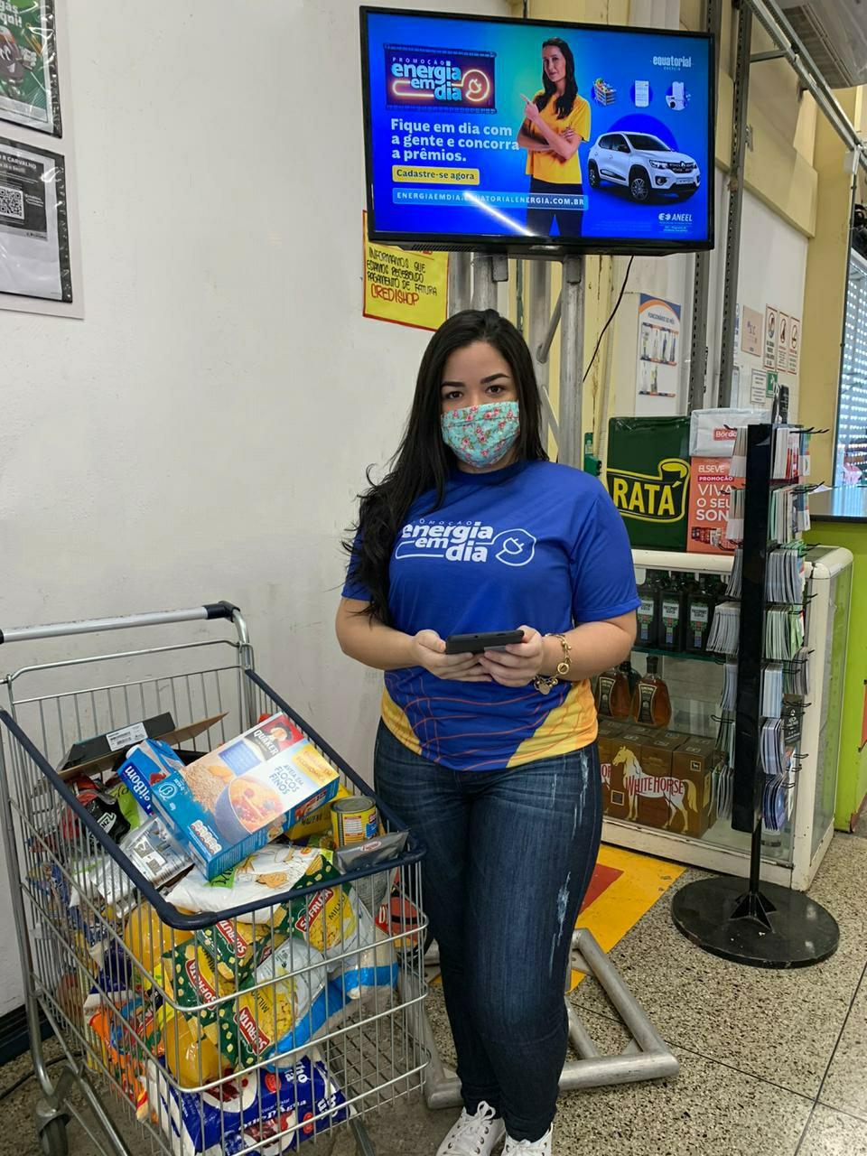 Equatorial Piauí realiza cadastro da promoção Energia em Dia nos supermercados