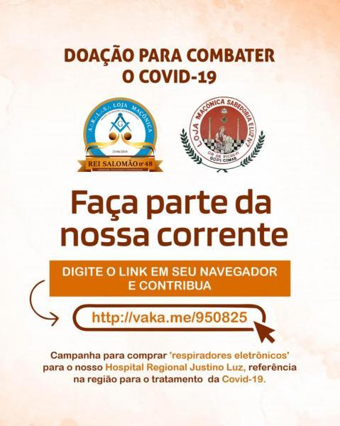 Maçonaria de Picos reforça na campanha para ajudar hospitais