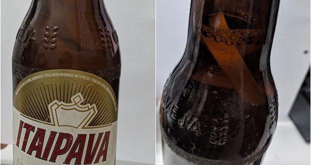 Itaipava é multada após piauiense encontrar 'objeto estranho' em garrafa
