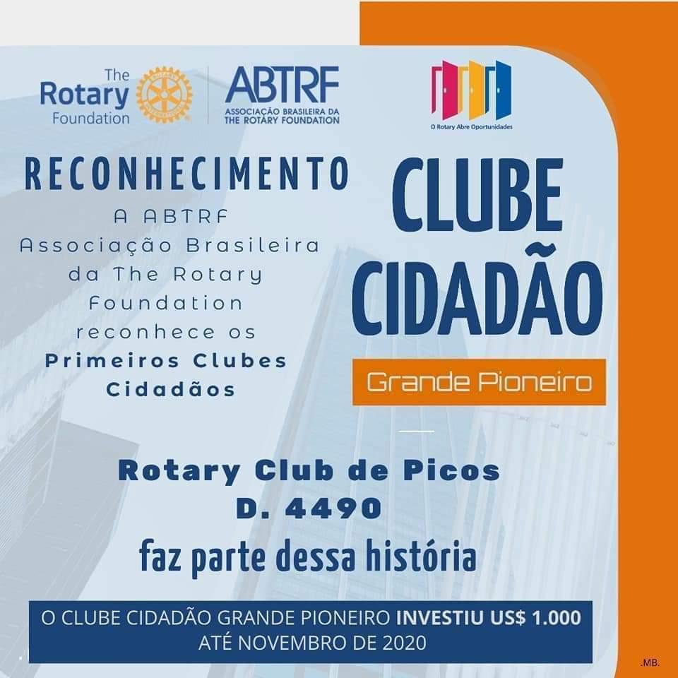 Rotary Club de Picos recebe reconhecimento da Associação Brasileira da The Rotary Foundation