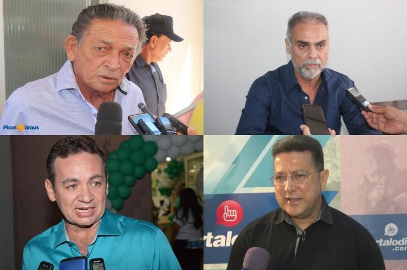 Pré-candidatos a prefeito de Picos avaliam pesquisa Amostragem