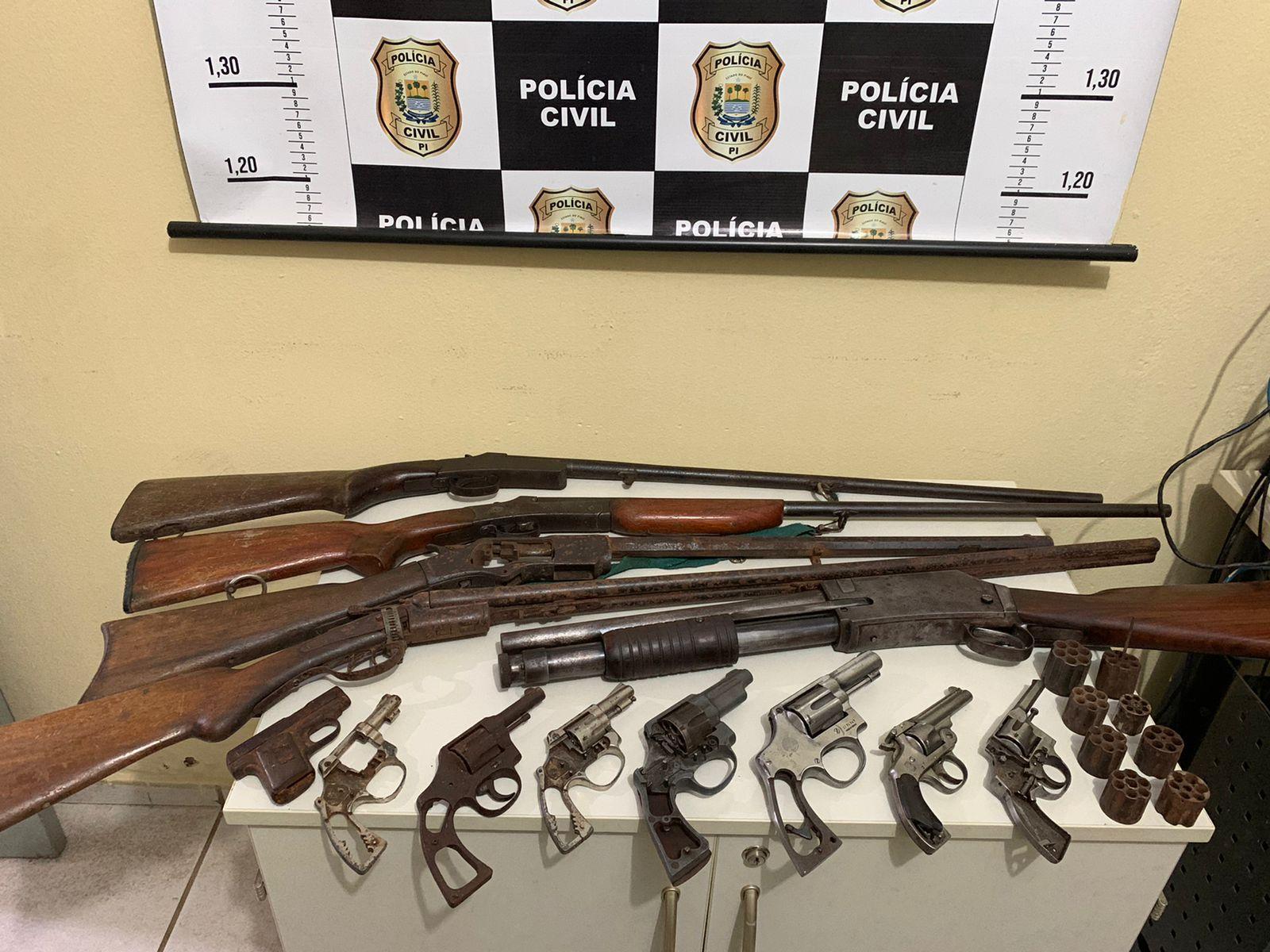 13 armas de fogo são apreendidas em residência na cidade de Picos