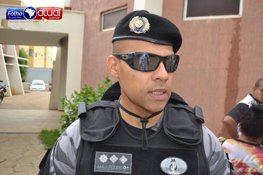 Comandante do 4° BPM de Picos promete reforço diário durante o carnaval