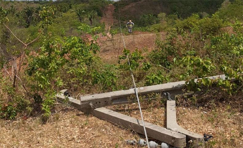 Falta de energia atinge 20 cidades do Piauí e empresa investiga vandalismo em linha de transmissão