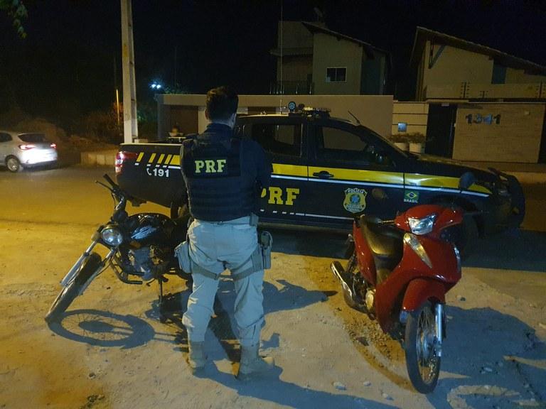 PRF apreende motocicletas com indícios de adulteração em Picos e Monsenhor Hipólito