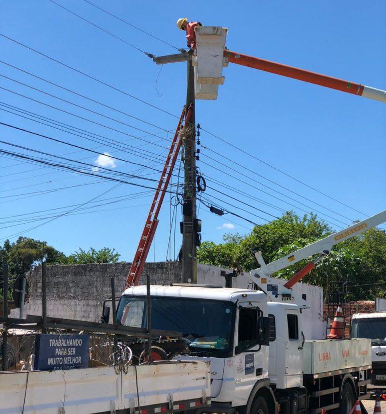 Plano Teresina intensifica melhorias na rede elétrica de toda a capital