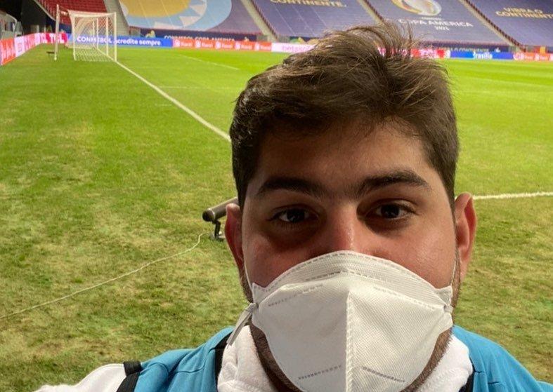 Picoense mostra a rotina de trabalho como médico de campo da Copa América 2021