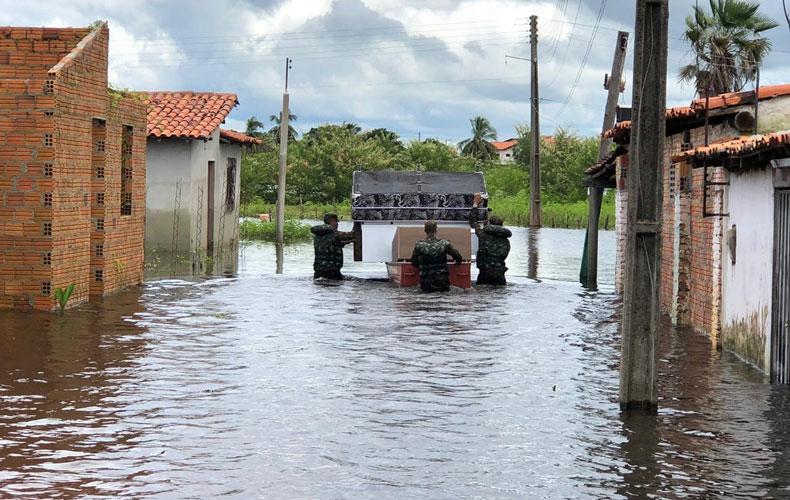 Dois rios já estão em estado de atenção por causa das chuvas no Piauí