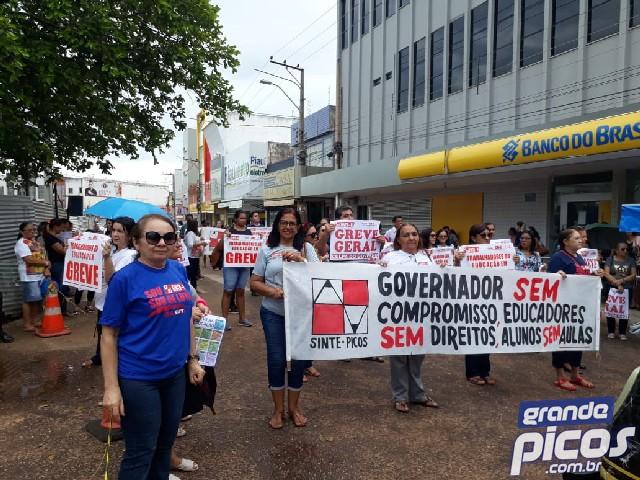 Wellington Dias não dá reajuste e professores mantém greve no PI
