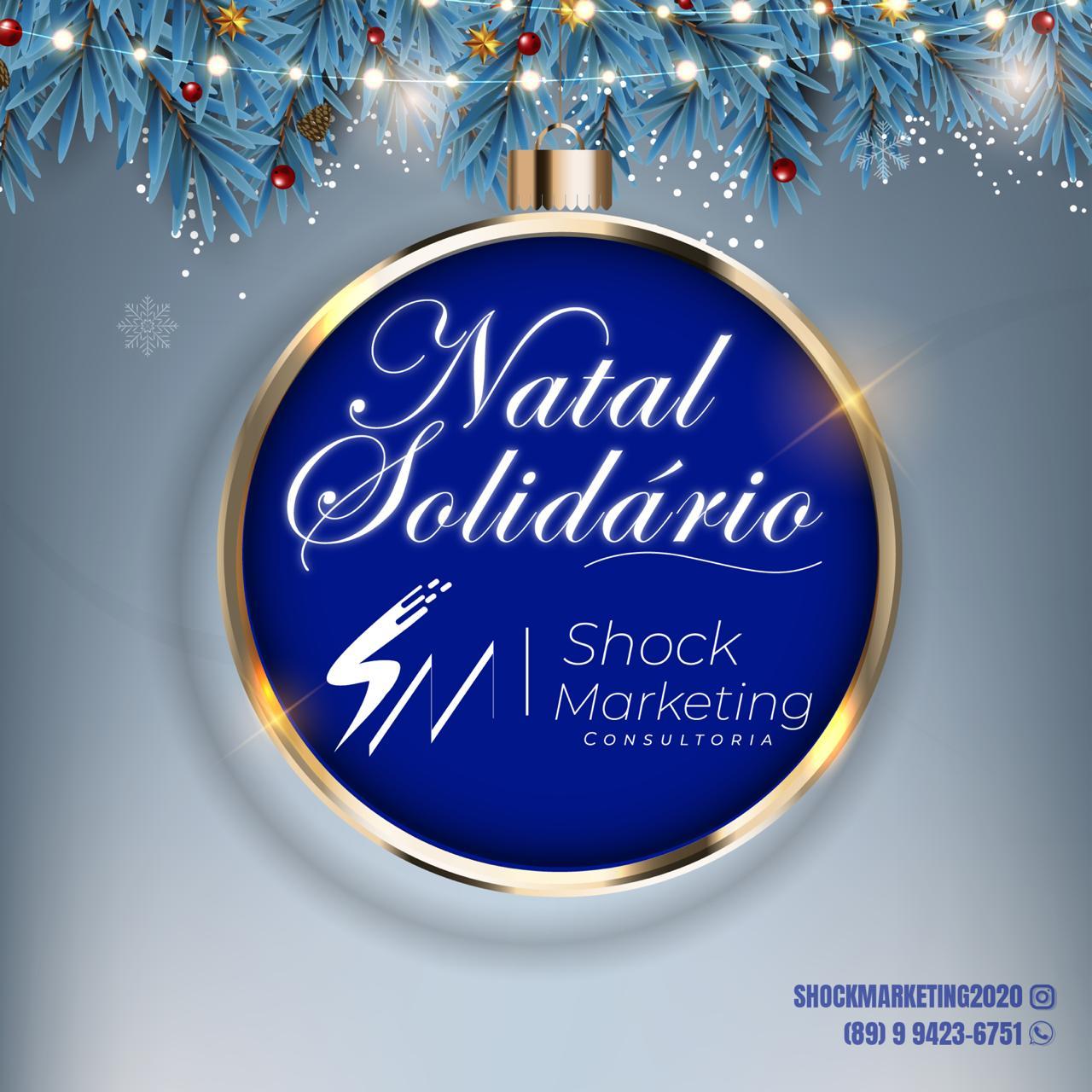 Agência Shock Marketing promove campanha 'Natal Solidário' em Picos; veja como ajudar