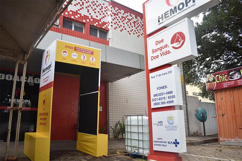 Hemopi reforça higienização para segurança na doação de sangue