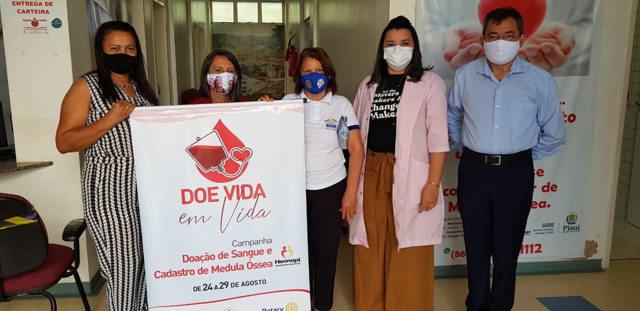 """Rotary Club de Picos: cerca de 70 pessoas já doaram sangue na campanha """"Doe Vida em Vida"""""""
