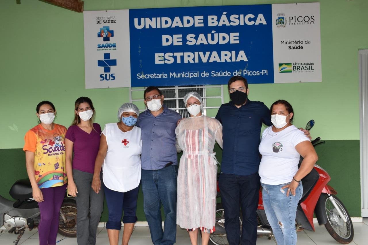 Chaguinha e Aldo Gil visitam postos de saúde de Picos