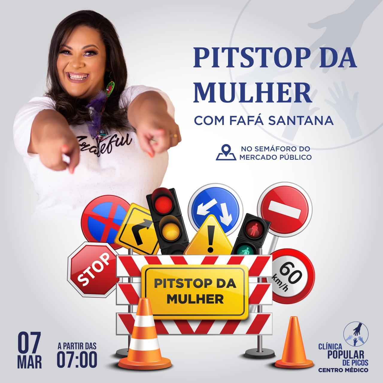 Clínica Popular de Picos está realizando neste sábado (07) Pit Stop da saúde da mulher