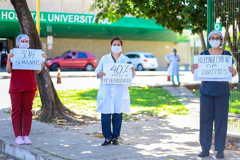 Cerca de 100 profissionais são afastados do HU com suspeita de Covid, denunciam funcionários