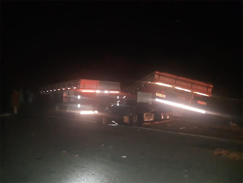 Acidente entre caminhões mata quatro pessoas na BR-020 em Pio IX